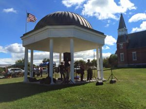 Musicians from Extra Stout play under the gazebo during last year's Apple Fest