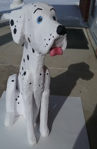 wooden carved dalmation dog